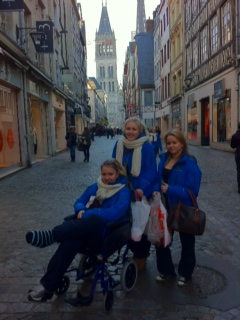 Happy shoppers in Rouen