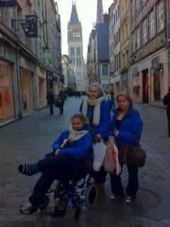 Happy shoppers in Rouen